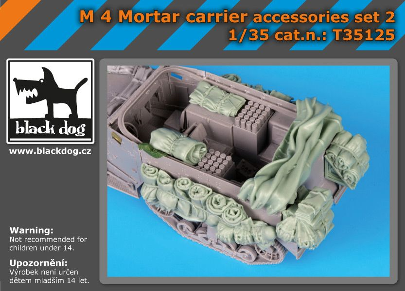 T35125 1/35 M 4 mortar carrier accessories set N Blackdog