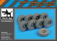 T35137 1/35 Hemtt wheels Blackdog
