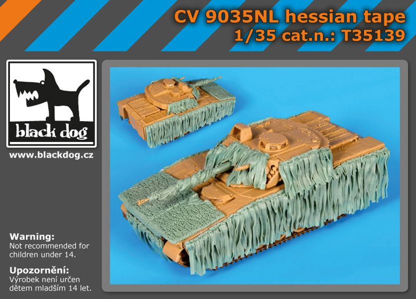 T35139 1/35 CV9035NL hessian tape Blackdog