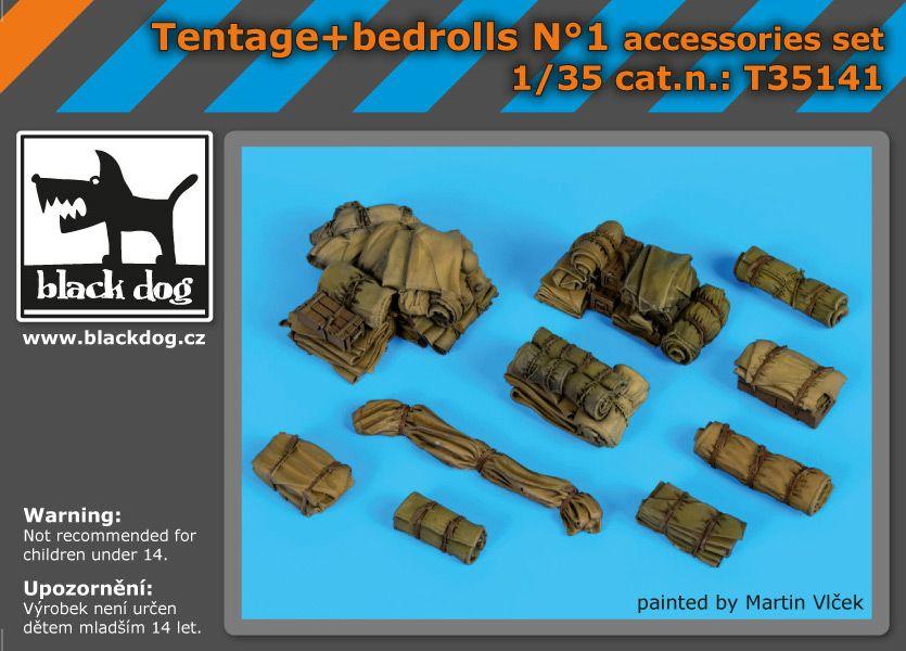 T35141 1/35 Tentage+bedrols N Blackdog