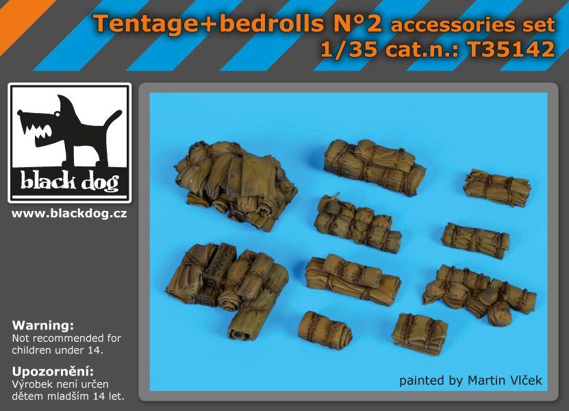 T35142 1/35 Tentage+bedrols N Blackdog