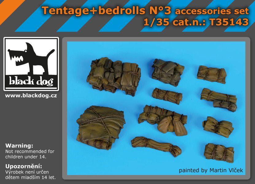 T35143 1/35 Tentage+bedrols N Blackdog