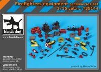 T35144 1/35 Firefighters equipment accessories set Blackdog