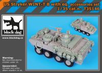 T35146 1/35 US Stryker WINT-T B with equip.accessories set Blackdog