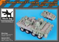 T35148 1/35 US Stryker WINT-T C with equip.accessories set Blackdog