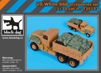 T35157 1/35 US White 666 accessories set Blackdog