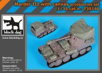 T35160 1/35 Marder III with canvas accessories set Blackdog