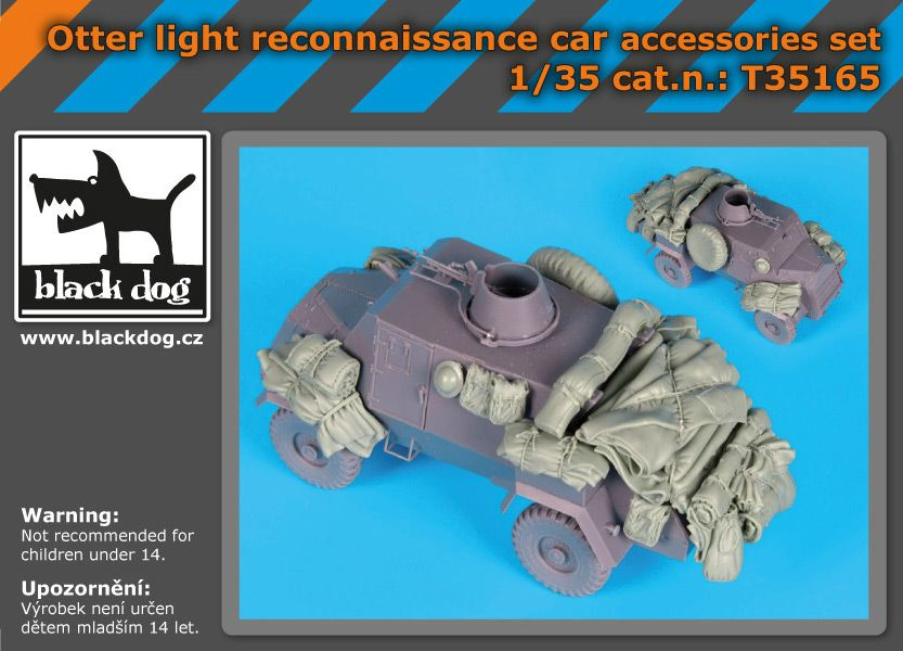 T35165 1/35 Otter light reconnaissance car accessories set Blackdog