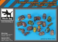 T35170 1/35 Civilian backpacks accessories set