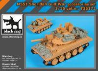 T35172 1/35 M 551 Sheridan Gulf War accessories set
