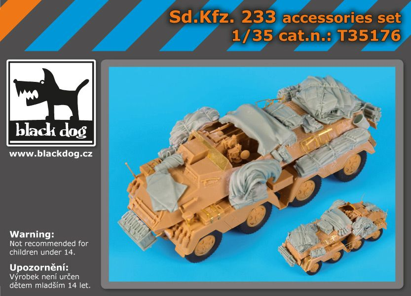 T35176 1/35 SD.Kfz. 233 accessories set Blackdog