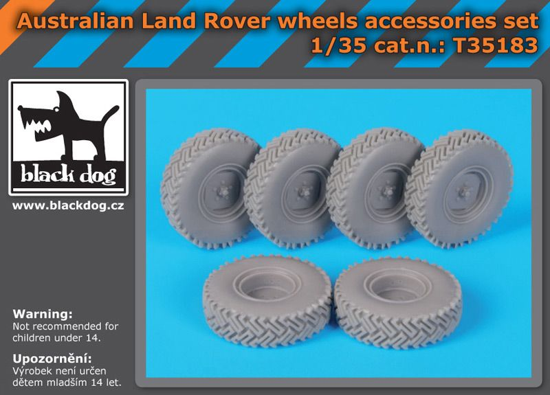 T35183 1/35 Australian Land Rover wheels accessories set Blackdog