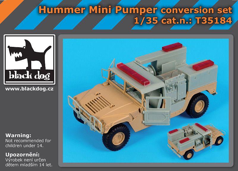 T35184 1/35 Hummer mini pumper conversion set Blackdog