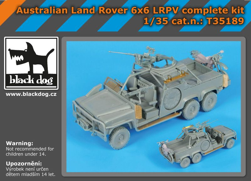 T35189 1/35 Australian Land Rover 6x6 complete kit Blackdog