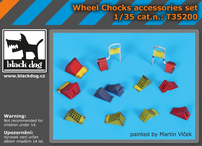 T35200 1/35 Wheel chocks accessories set Blackdog