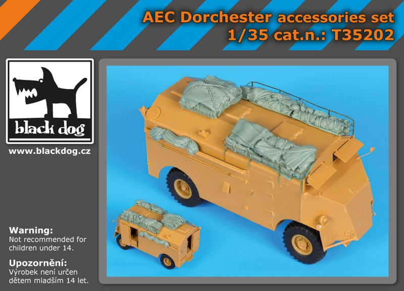 T35202 1/35 AEC Dorchester accessories set Blackdog