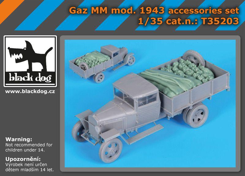 T35203 1/35 Gaz MM mOD.1943 accessories set Blackdog