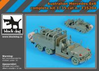 T35204 1/35 Australian Mercedes 6x6 complete kit Blackdog