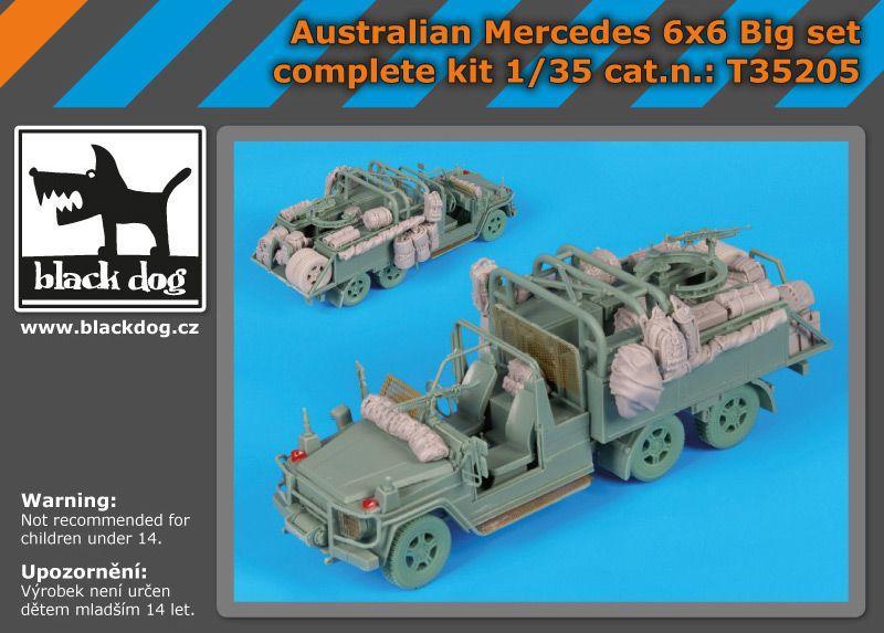 T35205 1/35 Australian Mercedes 6x6 complete kit Big set Blackdog