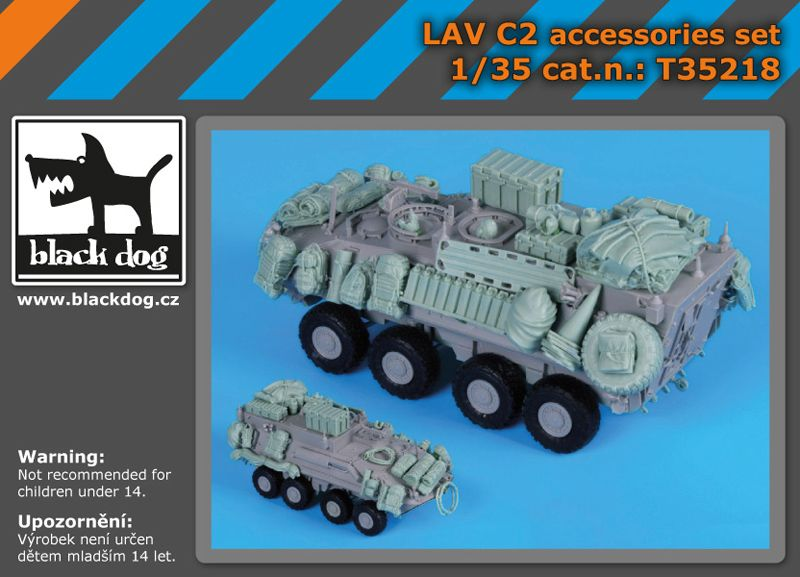 T35218 1/35 LAV C 2 accessories set Blackdog