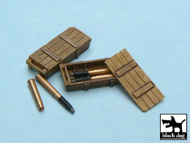 T48014 1/48 King Tiger ammo boxes Blackdog