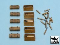 T48015 1/48 Panther ammo boxes Blackdog