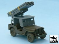 T48027 1/48 Jeep with rocket launcher