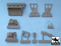 T48048 1/48 US 2 1/2 ton Cargo Truck accessories set Blackdog
