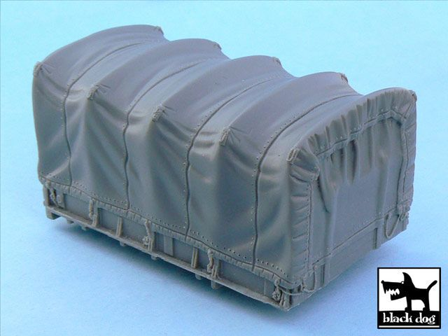 T48050 1/48 US 2 1/2 ton Cargo Truck cargo bay canvas Blackdog