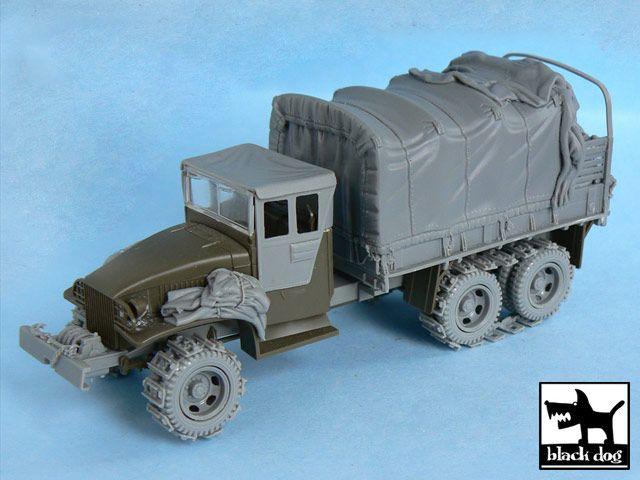 T48052 1/48 US 2 1/2 ton Cargo Truck big accessory set Blackdog