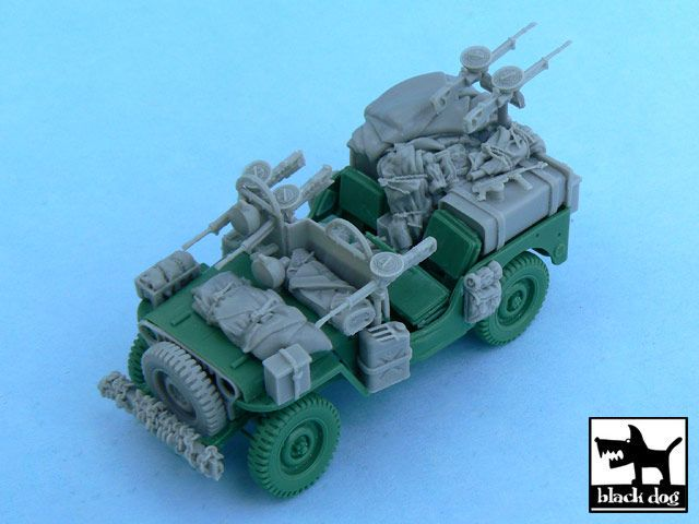 T48054 1/48 British SAS Jeep Europe 1944 Blackdog