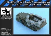 T48055 1/48 Sd.Kfz. 251/1 Ausf.C accessories set Blackdog