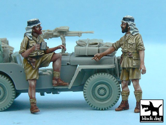 T48056 1/48 British SAS Jeep Crew Afrika (2 figures) Blackdog