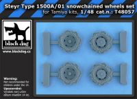 T48057 1/48 Steyr Type 1500A/01 snowchained wheels set Blackdog