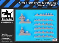 T48061 1/48 Jagd Tiger tank crew plus detail set Blackdog