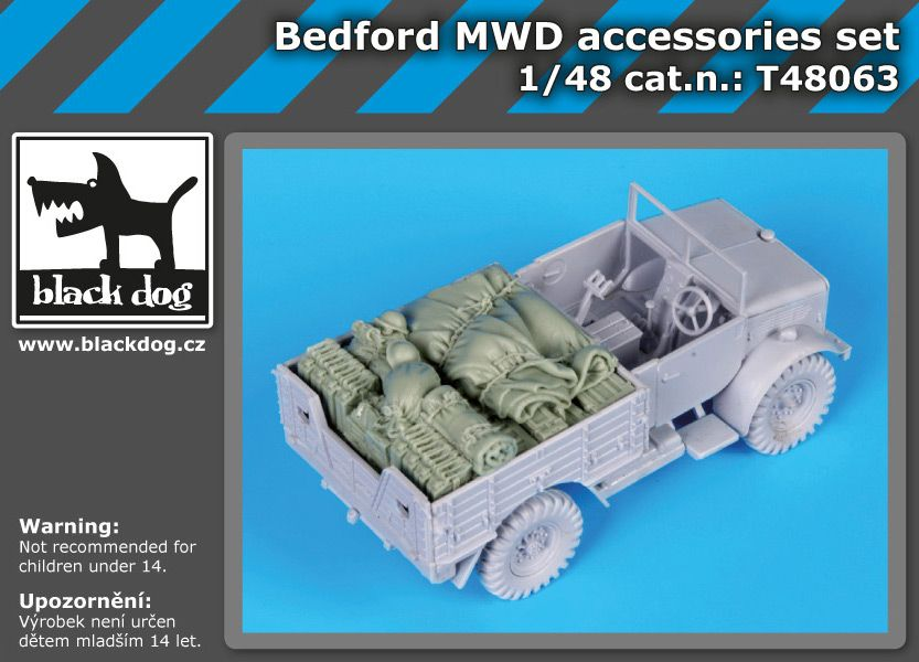 T48063 1/48 Bedford MWD accessories set Blackdog