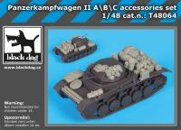 T48064 1/48 Panzerkampfwagen II ABC accessories set