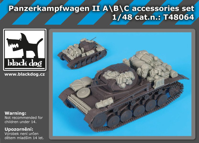 T48064 1/48 Panzerkampfwagen II ABC accessories set Blackdog