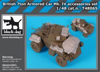 T48065 British 7 ton armored car MK IV accessories set