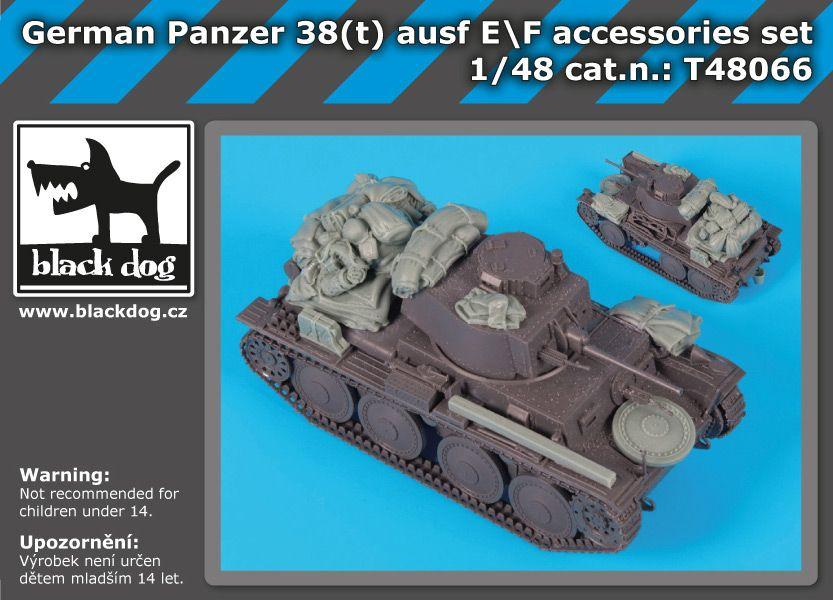 T48066 1/48 German Panzer 38t Ausf E/F accessories set Blackdog