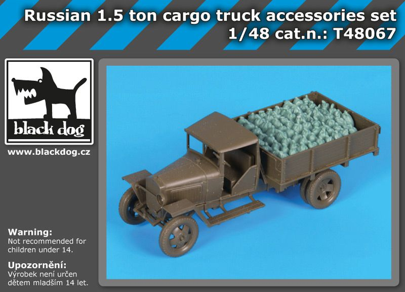 T48067 1/48 Russian 1.5 ton cargo truck accessories set Blackdog