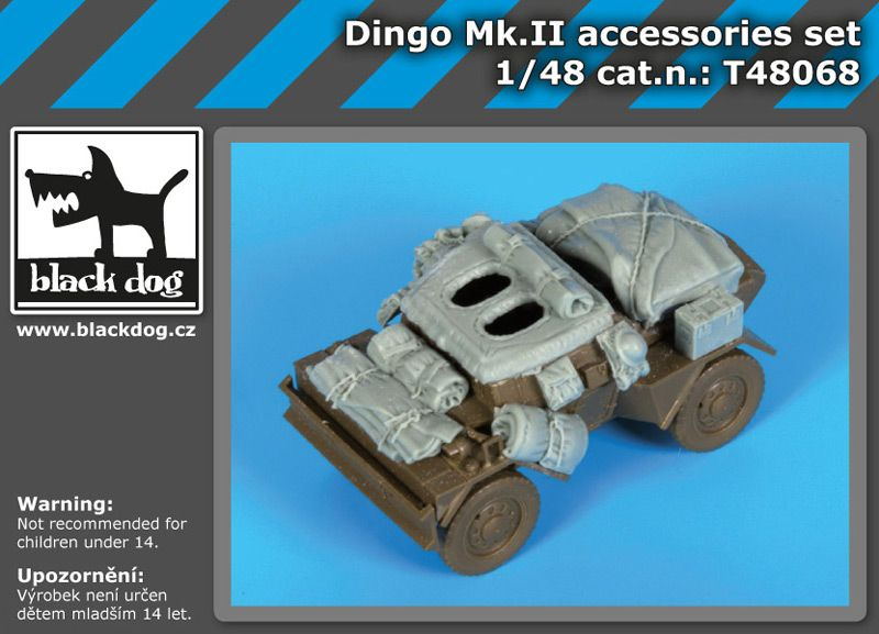 T48068 1/48 Dingo MK II accessories set Blackdog